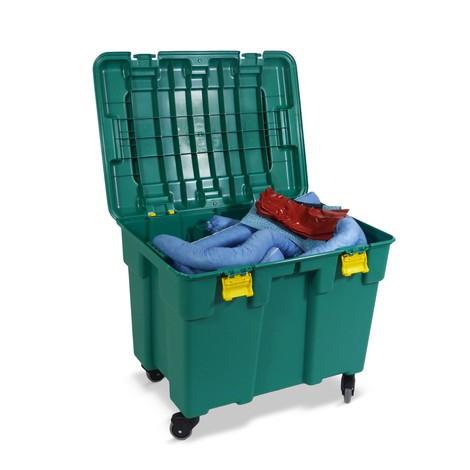 Kit de emergência Rollbox, capacidade 150 litros