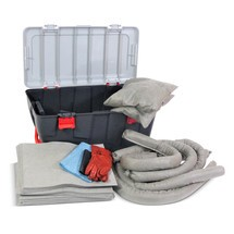 Kit di emergenza per oli, capacità di assorbimento 75 litri
