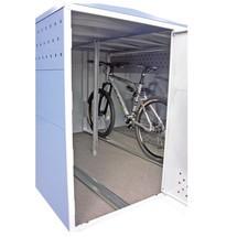 Kit di montaggio per garage per biciclette, ampliabile modularmente