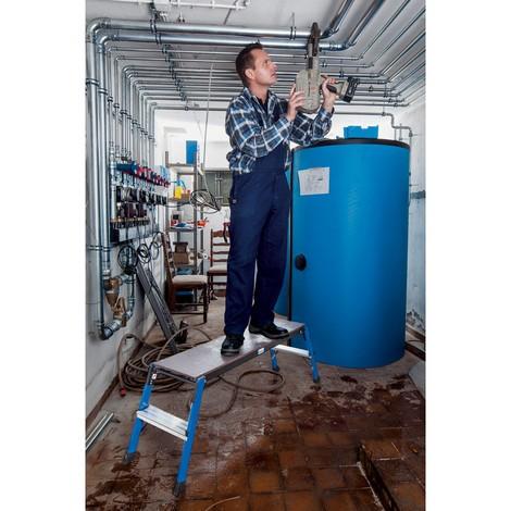 Klappbare Arbeitsplattform KRAUSE® aus Aluminium
