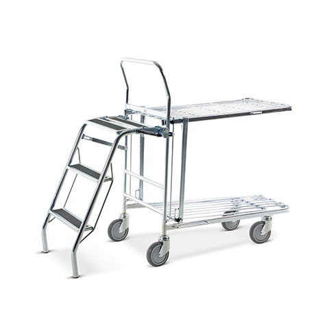 Klappbare Leiter für Lagerwagen / Transportwagen