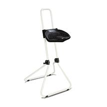 Klappbare Stehhilfe, ergon. geformter PU-Sitz, arretierbare Höhenverst., weiß