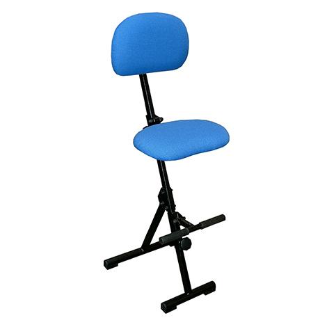 Klappbare Stehhilfe, Sitz & Rückenlehne, mit Aufstiegshilfe