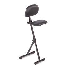 Klappbare Stehhilfe, Sitz & Rückenlehne, ohne Aufstiegshilfe