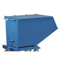 Klappbarer Deckel für fetra® Muldenkipper mit Rollen, Blau