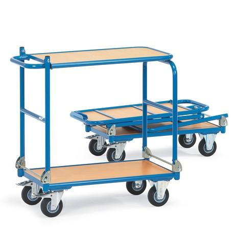 Klappbarer Tischwagen fetra® mit Stahlrahmen