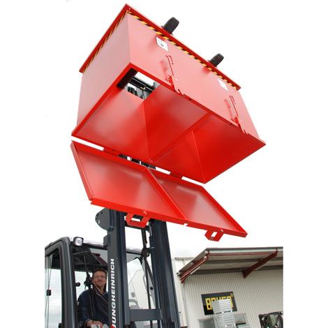 Klappbodenbehälter Duo mit 2 Kammern. Tragkraft 2x750kg, Volumen 2x0,9m³