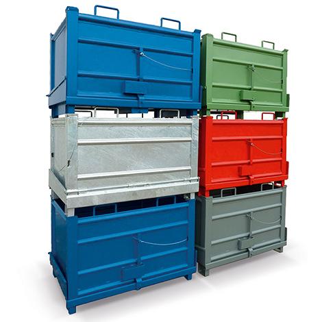 Klappbodenbehälter HESON ®. Tragkraft 1000 kg, Volumen bis 1 m³