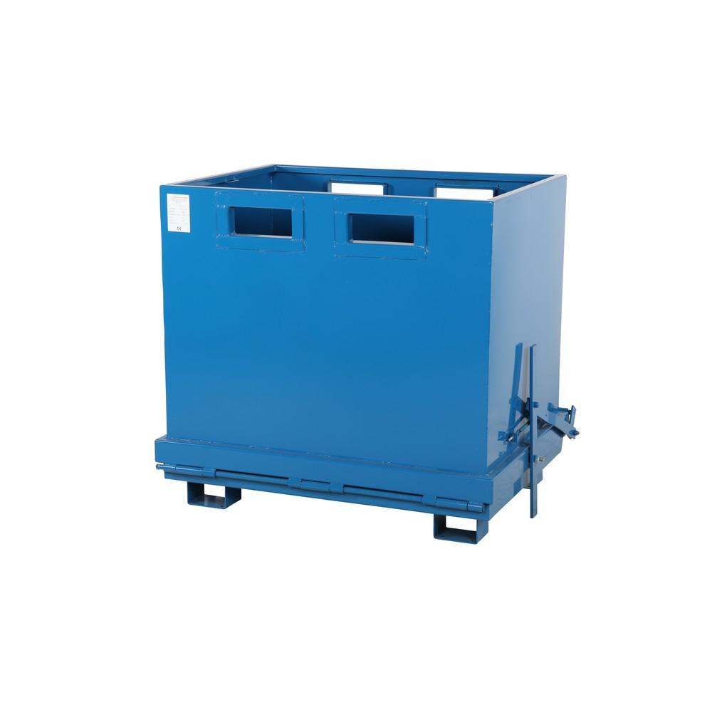Folding bund container med automatisk udløsning