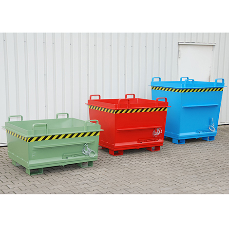 Klappbodenbehälter, Tragkraft 1000 kg, Volumen ca. 0,5 m³, lackiert