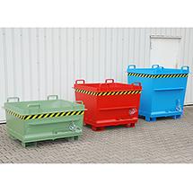 Klappbodenbehälter, Tragkraft 1500 kg, Volumen ca. 0,7 m³, lackiert