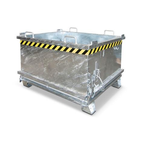 Klappbodenbehälter, verstärkte Bodenklappe, verzinkt
