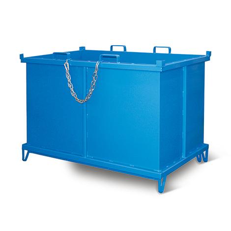 Klappbodenbehälter,autom. Ausl., TK 1000kg,500l,mit Rollen