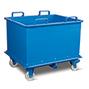 Klappbodenbehälter,autom. Ausl., TK 1500kg,1500l,mit Rollen