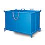 Klappbodenbehälter,autom. Druckentriegelung, TK 1000kg,500l,mit Füßen