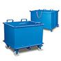 Klappbodenbehälter,autom. Druckentriegelung, TK 1250kg,1000l,mit Füßen