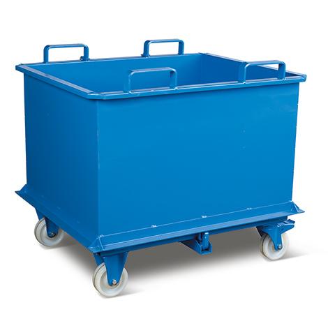 Klappbodenbehälter,autom. Druckentriegelung, TK 1500kg,2000l,mit Füßen