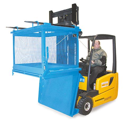 Klappbodenhälter mit Gitterwänden. Tragkraft 500 kg, Volumen 1 m³