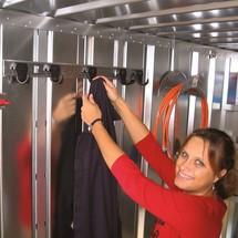 Kleiderhakenleiste fü SC- und SGL-Container