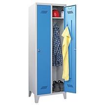 Kleiderspind PAVOY mit Stahlfüßen + Zylinderschloss, 2 Abteile à 300 mm Breite