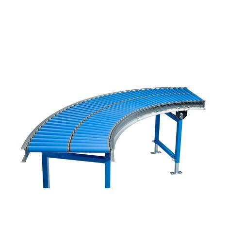 Klein-Rollenbahn, Kunststoffrollen, 45° Kurve