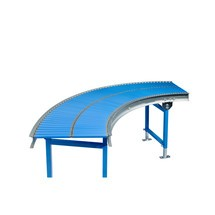Klein-Rollenbahn, Stahlrohrrollen, 90° Kurve