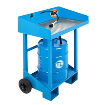 Kleine onderdelen reiniger voor 50 liter vaten, mobiel