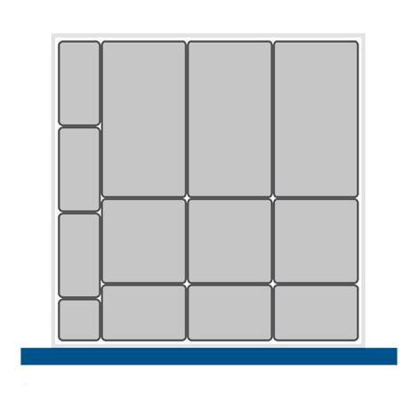 Kleinteilekasten-Set bott cubio mit 13 Kästen.  BxT mm: 650x650