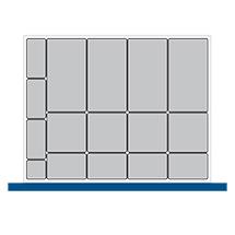 Kleinteilekasten-Set bott cubio mit 16 Kästen.  BxT mm: 800x650