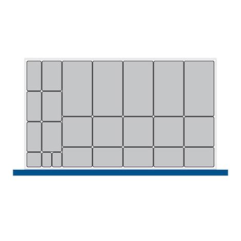 Kleinteilekasten-Set bott cubio mit 24 Kästen.  BxT mm: 1050x650