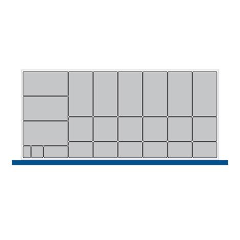 Kleinteilekasten-Set bott cubio mit 24 Kästen.  BxT mm: 1300x650