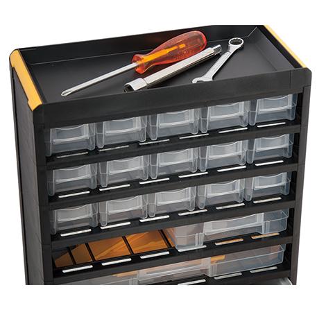 Kleinteilemagazin BASIC. Kunststoffgehäuse: 50 x Gr. 2