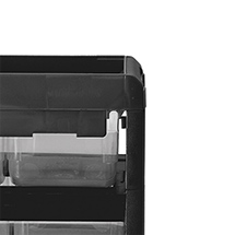 Kleinteilemagazin BASIC. Kunststoffgehäuse: 8 x Gr. 1 + 1 x Gr. 4