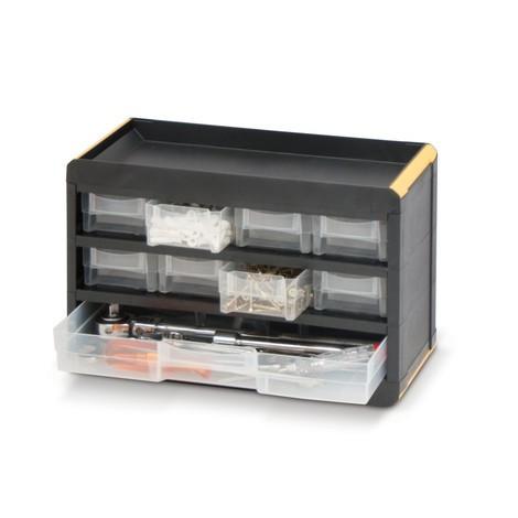 Kleinteilemagazin BASIC, mit Kunststoffgehäuse, Tiefe 135 mm