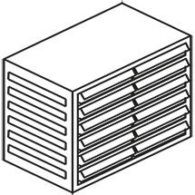 Kleinteilmagazin, 12 Schubladen Typ C, Höhe 290mm