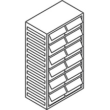 Kleinteilmagazin, 12 Schubladen Typ F, Höhe 550mm