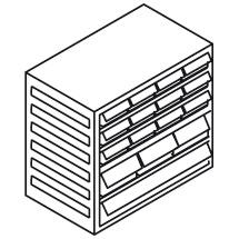 Kleinteilmagazin, 6 Schubladen Typ F, Höhe 290mm