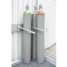 Kleminrichting voor gasflessenopbergbox TRGS 510