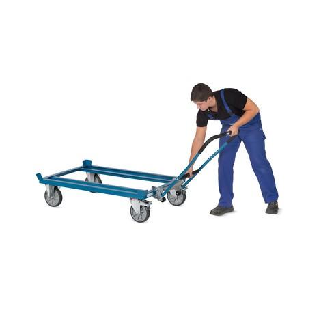 Klink-duwbeugel van buizenstaal voor palletonderwagen fetra® met vanghoeken