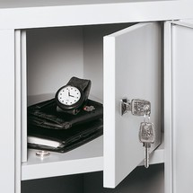 Kluis binnen voor garderobekast, ventilatiegaten, 300 en 400mm