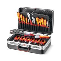 KNIPEX Werkzeugkoffer Elektro, bestückt, 20-tlg.