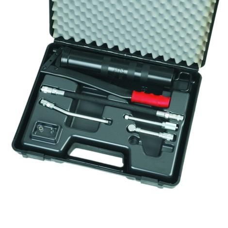 Koffer voor de professionele hefboomspuit SAMOA-HALLBAUER PHK