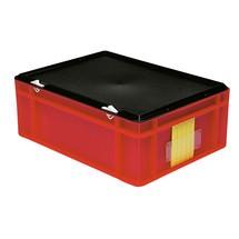 Koffergriff für Euro-Stapelbehälter, Wände + Boden geschlossen