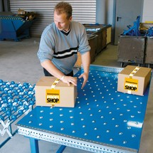 Kogelroltafels, baanbreedte 400 mm