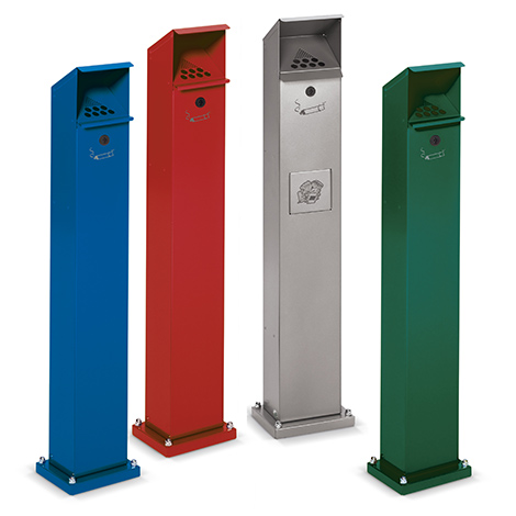 Kombi-Standascher, Höhe 1150 mm, diverse Farben