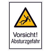 Kombi-Warnschild