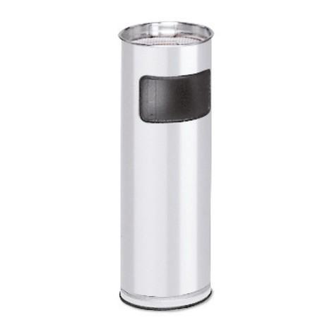 Kombinerad askkopp/avfallsbehållare VAR®, rostfritt stål, golvmodell