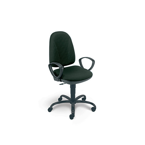 Komfort-Bürodrehstuhl, Stahl Fußkreuz, 2 Sitzfarben zur Auswahl, Gesamthöhe 940-1060