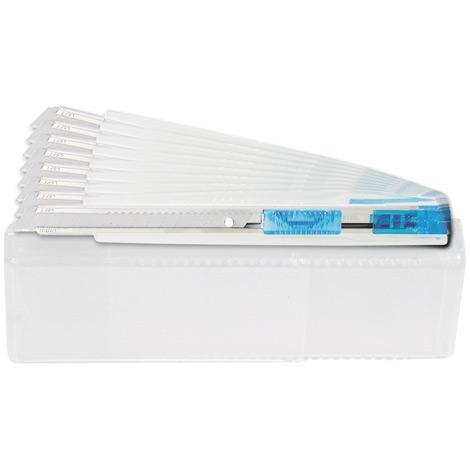 Komfort-Cutter mit 9mm Abbrechklinge, transparent-blau