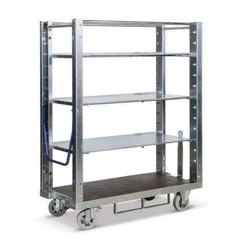 Kommissionierwagen für Eurokästen, Tragkraft 600 kg